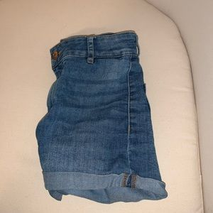 blue denim shorts by H&M